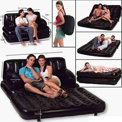 AIR LOUNGE SOFA CUM BED LOVE SEAT-BABY NAP BED RECLINER TRAVEL GIFT