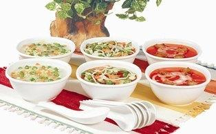 Microwave Safe Soup Bowl Set of 6 Bowls & 6 Spoons @ 299