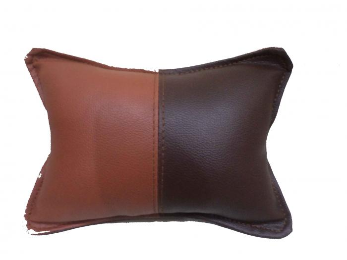 Pair of Bean Bag Neck Support Brown Bi-Color