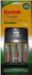 Kodak 2100 mAh AA Size 4  Rechargeable Battery with Charger