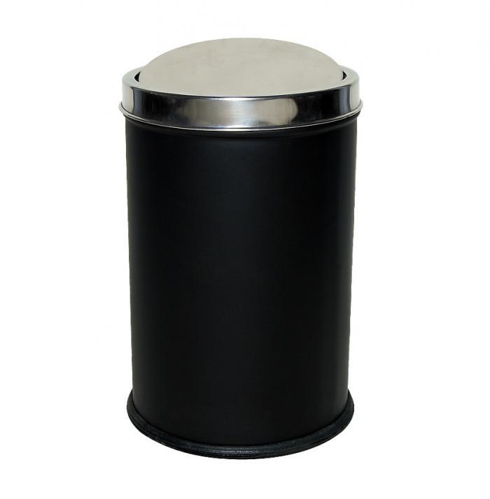 Trash bin swing lid black small 4514 - Small trash can with lid ...