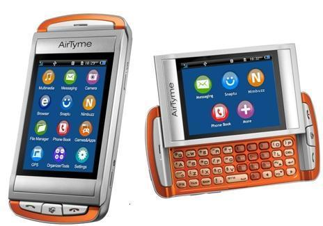 Brand New Airtyme Torrid GTX75 QWERTY & TOUCH 3G PHONE (Green & Orange)